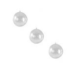 3 Boules transparentes 8cm