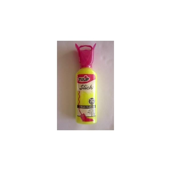 Tulip 3d slick jaune fluo maison pratic boutique pour vos loisirs creatifs et votre deco for Peinture jaune fluo
