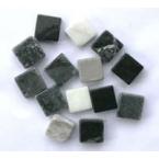 Mosaique marbre Gris noir 110 tesselles