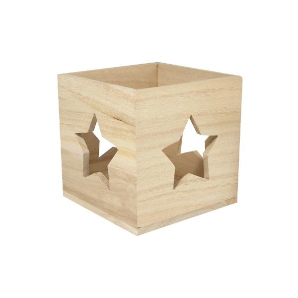 photophore bois etoile de noel maison pratic boutique pour vos loisirs creatifs et votre deco. Black Bedroom Furniture Sets. Home Design Ideas