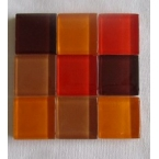 mosaique verre baccara grenat 20x20mm