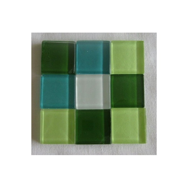 mosaique verre baccara jade 20x20mm maison pratic. Black Bedroom Furniture Sets. Home Design Ideas