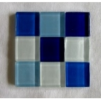 mosaique verre baccara aigue marine 20x20mm
