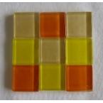 mosaique verre baccara ambre 20x20mm 140 tesselles