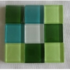 mosaique verre baccara jade 20x20mm 140 tesselles
