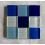 mosaique verre baccara aigue marine 20x20mm 140 tesselles