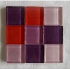 mosaique verre baccara améthyste 20x20mm 140 tesselles