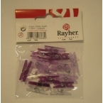 lot de 20 mini pinces lilas