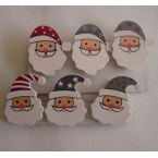 lot de 6 pinces deco santa clos