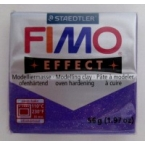 Pate Fimo effects glitter lilas