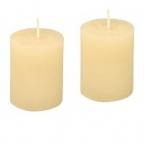 Lot de 2 bougies creme