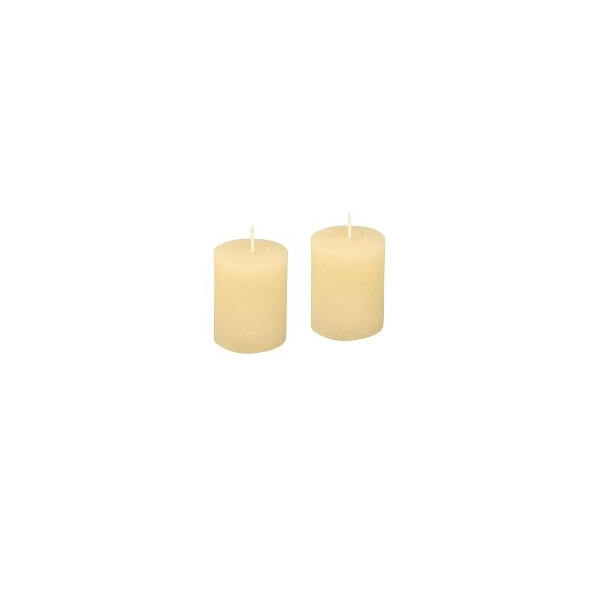 lot de 2 bougies creme maison pratic boutique pour vos. Black Bedroom Furniture Sets. Home Design Ideas