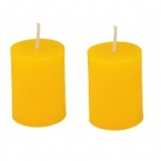 Lot de 2 bougies jaune