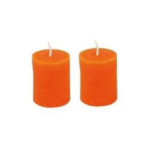 lot de 2 bougies orange maison pratic boutique pour vos loisirs creatifs et votre deco. Black Bedroom Furniture Sets. Home Design Ideas