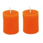 Lot de 2 bougies orange