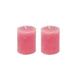 lot de 2 bougies rose layette maison pratic boutique pour vos loisirs creatifs et votre deco. Black Bedroom Furniture Sets. Home Design Ideas