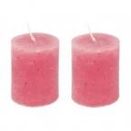 Lot de 2 bougies rose layette
