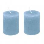 Lot de 2 bougies bleu ciel