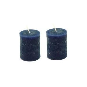 lot de 2 bougies bleu nuit maison pratic boutique pour vos loisirs creatifs et votre deco. Black Bedroom Furniture Sets. Home Design Ideas