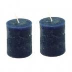 Lot de 2 bougies bleu nuit