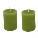 Lot de 2 bougies vert pomme