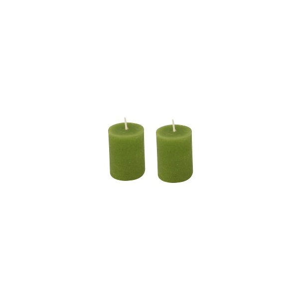 lot de 2 bougies vert pomme maison pratic boutique. Black Bedroom Furniture Sets. Home Design Ideas