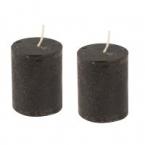 Lot de 2 bougies noir