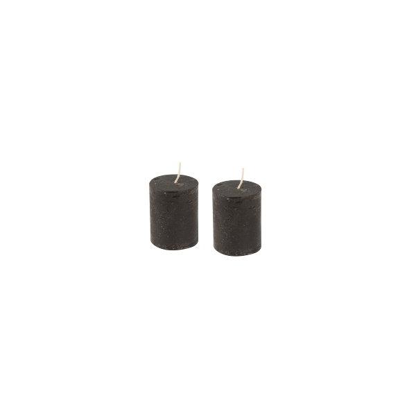 lot de 2 bougies noir maison pratic boutique pour vos loisirs creatifs et votre deco. Black Bedroom Furniture Sets. Home Design Ideas