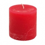 Bougie rouge 7cm