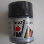 Peinture textile Marabu Métallic Argent 50 ml