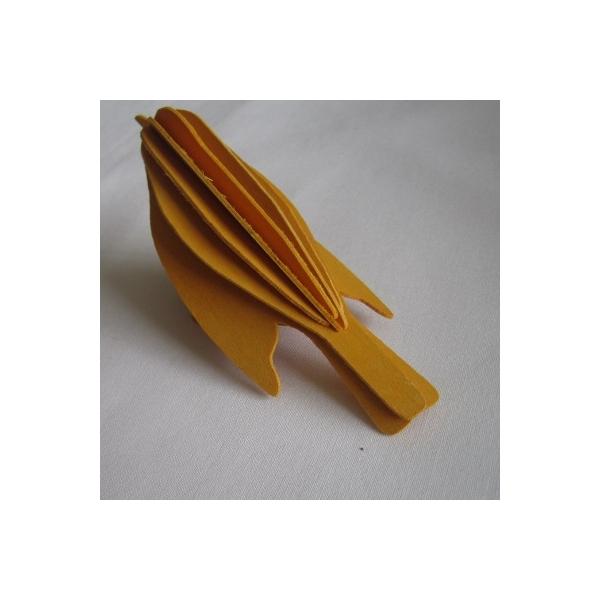 oiseau en bois carte 3d jaune maison pratic boutique pour vos loisirs creatifs et votre deco. Black Bedroom Furniture Sets. Home Design Ideas