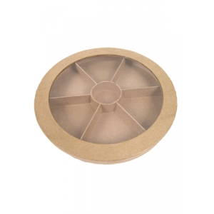 Decopatch bo te ronde multicompartiments maison pratic for Boite ronde a decorer