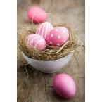 Décoration de Pâques oeuf rose