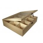 Boîte à thé 12 cases en bois