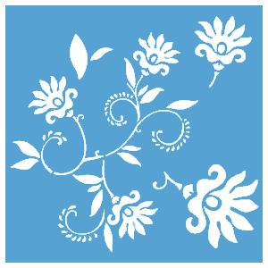 pochoir fleur dancing flowers maison pratic boutique pour vos loisirs creatifs et votre deco. Black Bedroom Furniture Sets. Home Design Ideas