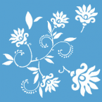 Pochoir Fleur dancing flowers