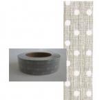 Masking Washi Tape argent point blanc
