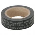 Masking Washi Tape noir et boucles argent