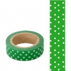 Masking Washi Tape vert point blanc