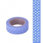 Masking Washi Tape bleu point blanc