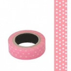 Masking Washi Tape rose point blanc