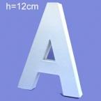 Lettre 3D en carton A 12cm