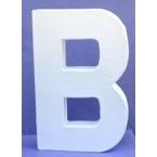 Lettre 3D en carton B 12cm