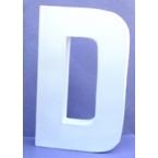 Lettre 3D D en carton 12cm