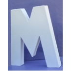 Lettre 3D-M 12cm