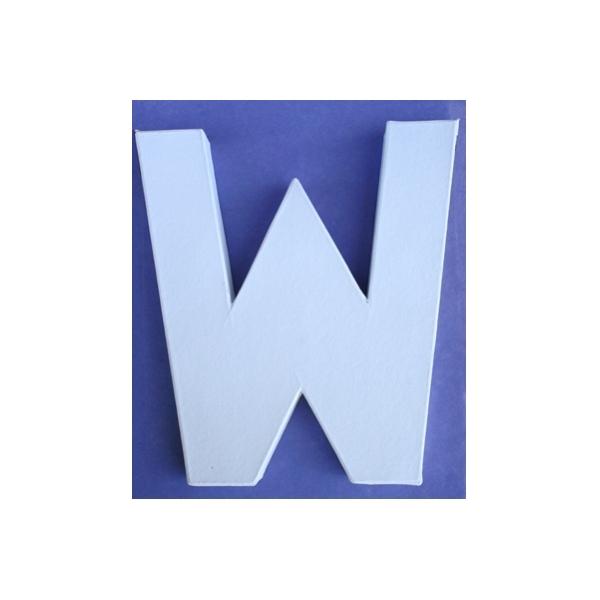 Lettre 3d w 12cm maison pratic boutique pour vos - Pot en 3 lettres ...