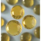 20 grandes perles de verre jaune