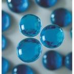 Grandes perles de verre bleu turquoise