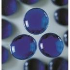 Grandes perles de verre bleu foncé