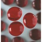 Grandes perles de verre rouge